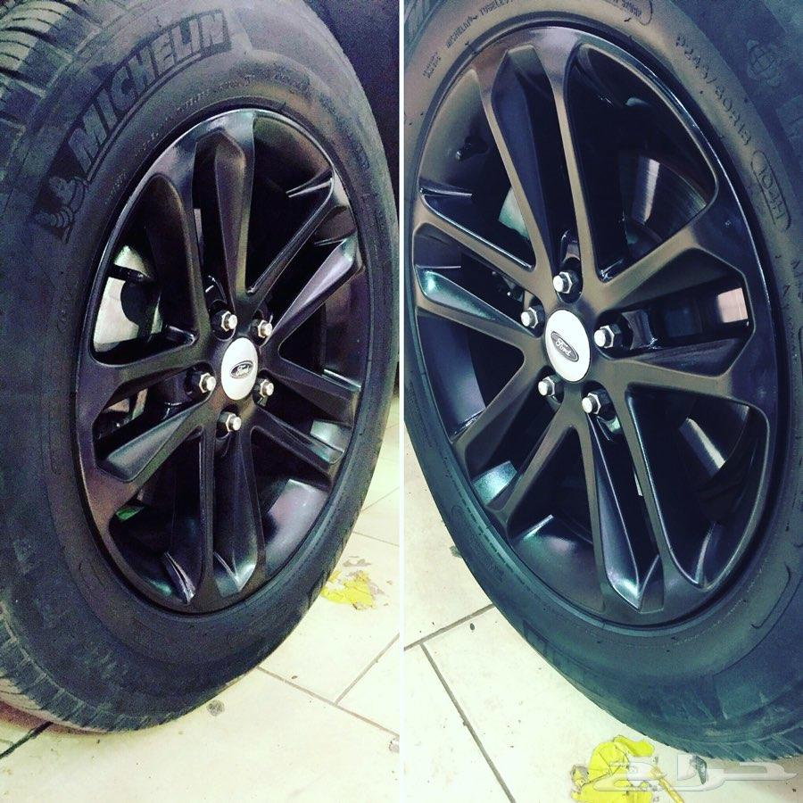 رش جنوط مطفي ولمعهGlossy and matteSpray paint for car wheels