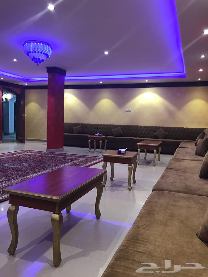 حراج العقار | استراحة كبيرة قسمين للايجار اليومي شمال الرياض