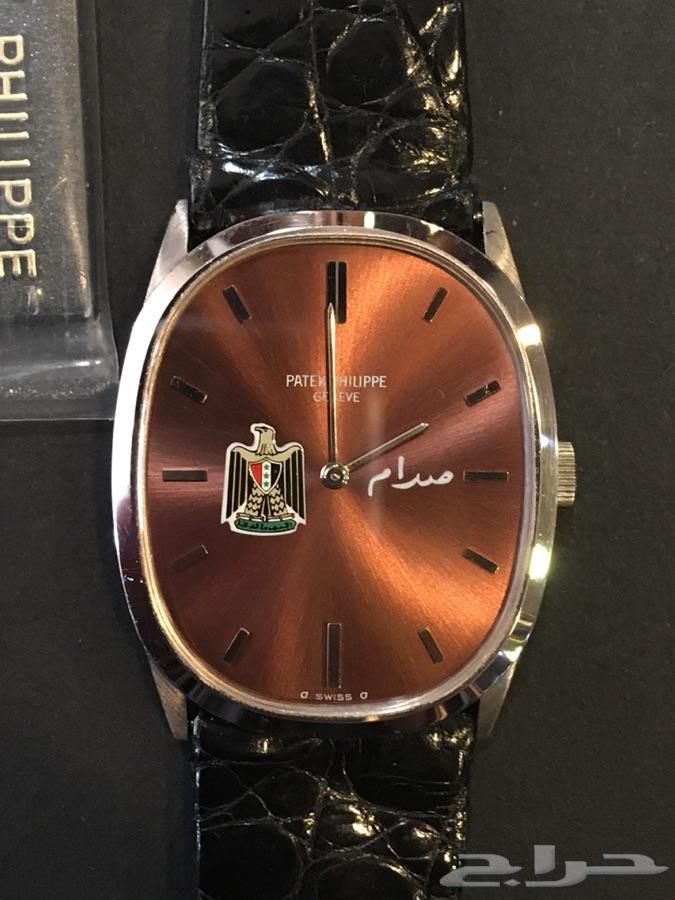 460e19362 ساعة باتيك فيليب صدام حسين ذهب ابيض الساعة جديدة بالعلبة غير مستخدمه الساعة  اصلية 100% فقط للمهتمين بالشراء