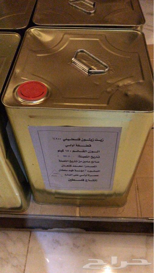 زيت زيتون فلسطيني بكر عصره اولى للبيع