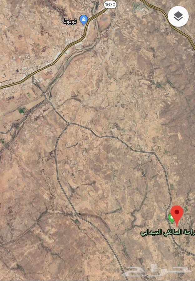 أرض للبيع جنوب العيدابي طريق السيمران