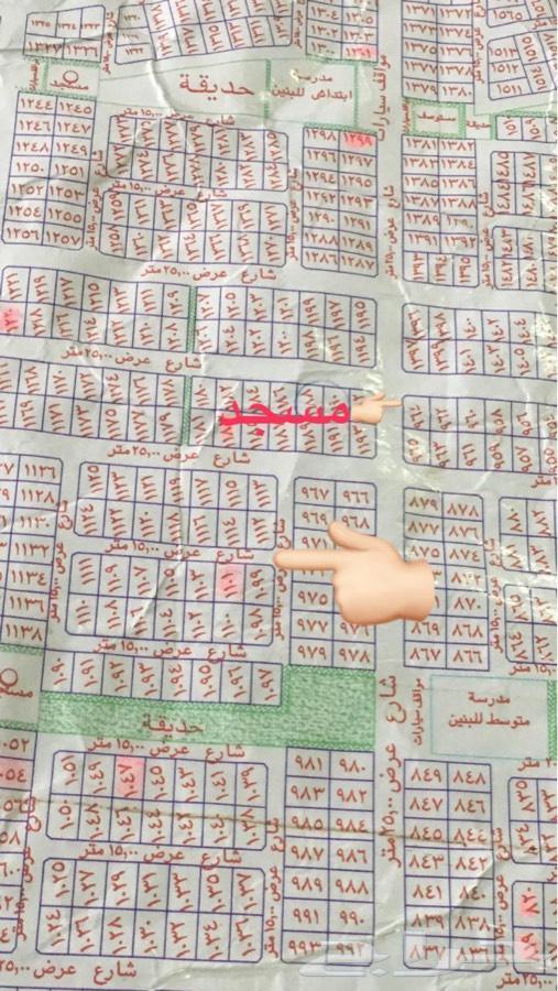 ارض ركنية في مخطط ولي العهد 1