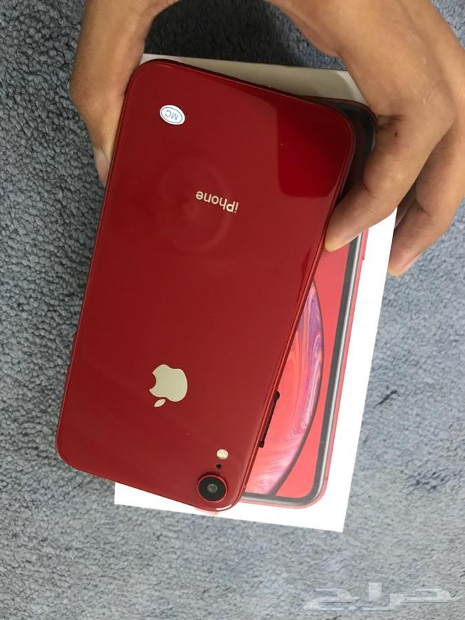 ايفون اكس ار اصفر احمر ازرق 256 ب 500
