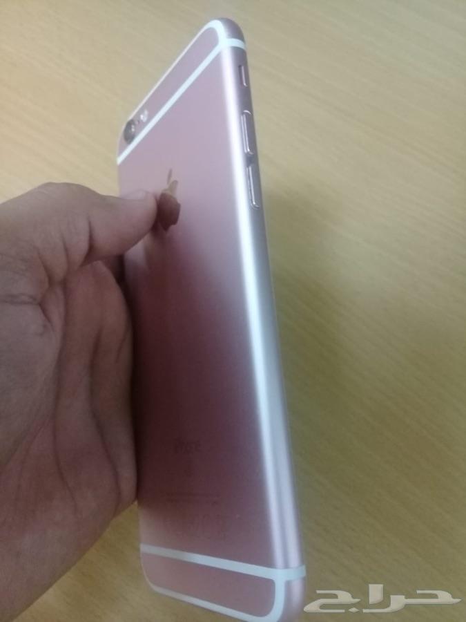 للبيع جوال ايفون 6 اس 64 قيقا لونه روز