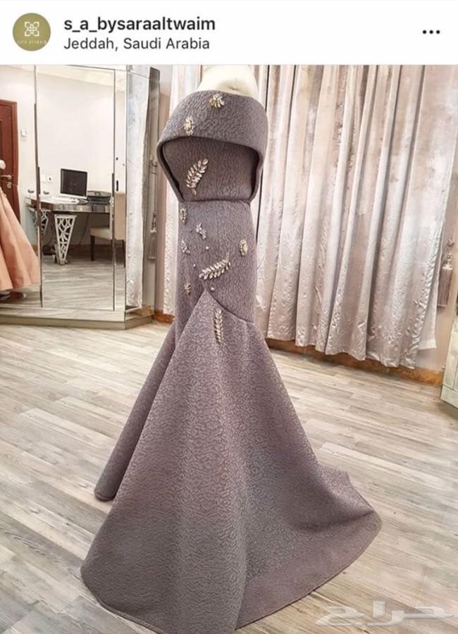 8dcb6f8bb8943 فستان سهرة تصميم خاص