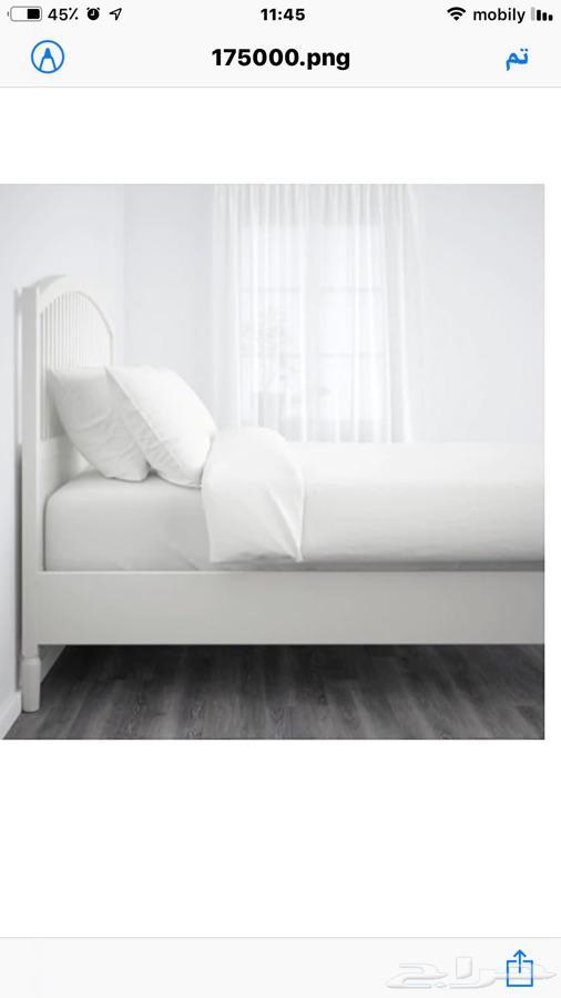 غرفة نوم ايكيا 1 سرير وعدد 2 كوميدينة
