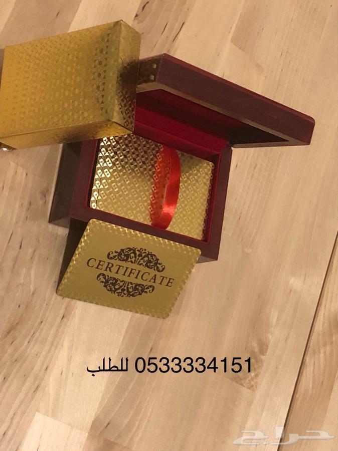 ورق بلوت مذهل فاخر ب ( صندوق ) ذهبي وفضي