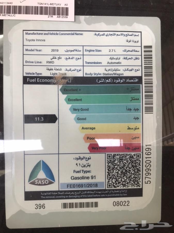 اينوفا استاندر 2019 السعر 81000