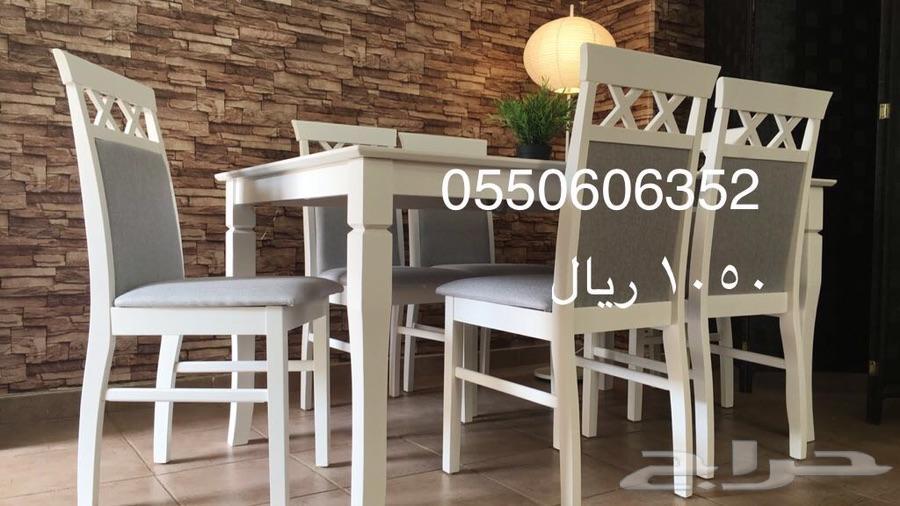 طاولات طعام خشب ماليزي مع توصيل وتركيب