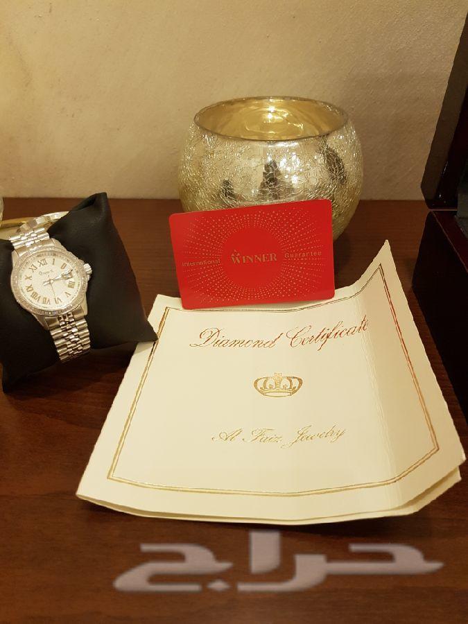 a6537f0bf ساعة الماس سويسرية winner للبيع
