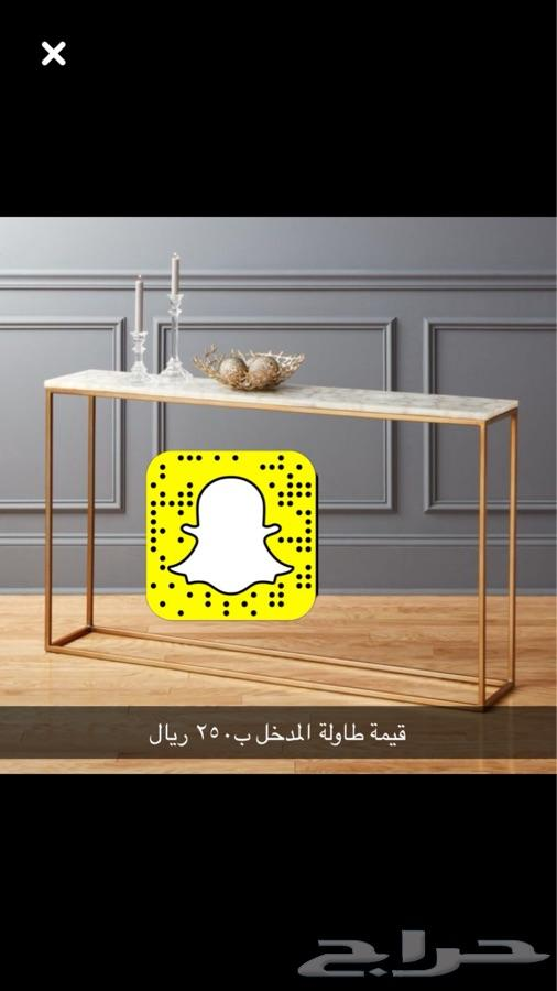 طاولات اثاث رفوف كراسي مراجيح حمالة حطب