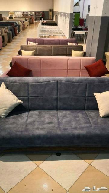 كنبة ثلاثية تركية تصير سرير وفيها تخزين