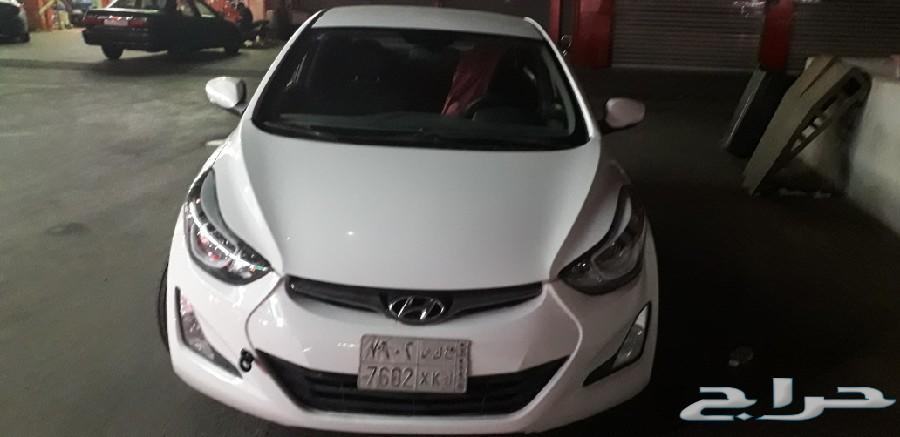Hyundai Electra 2016 white exclent condition