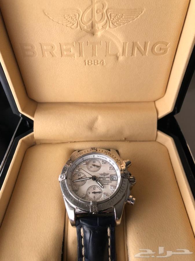 ساعة برايتلنج اللماس نادرة اصلية