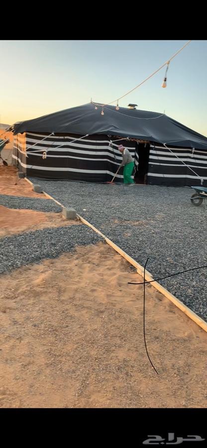 تبوك - مخيم مكون   قسمين