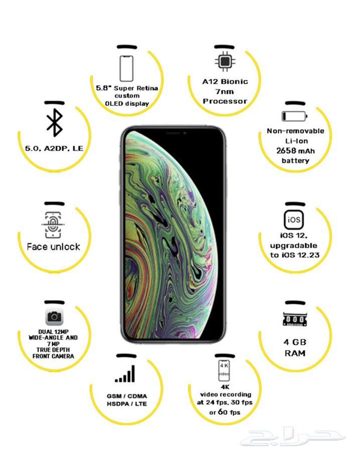 iphone xs 256 مستعمل مثل الجديد