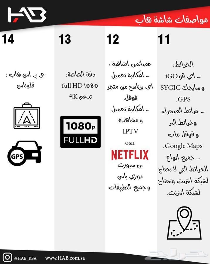 شاشة هاب كامري 2012-2017 الاصدار الجديد