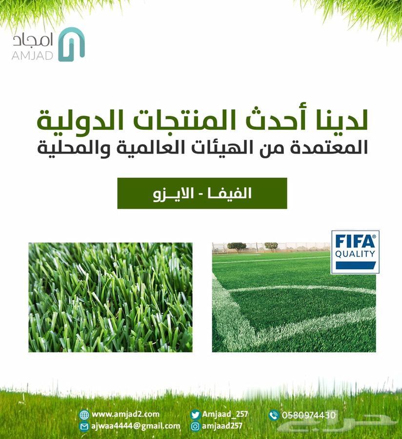 عشب صناعي وتنسيق حدائق(تصميم بسعر رمزي)