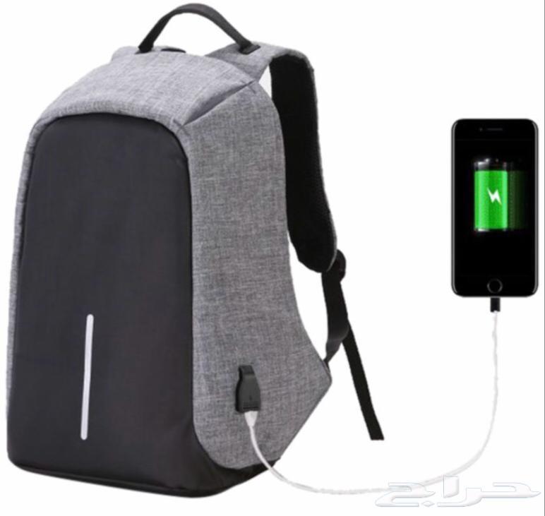 شنطة ظهر ذكية ضد السرقة والماء بمنفذ USB
