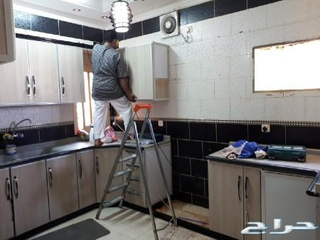 معلم دلاب مطبخ فك وتركيب صيانة تغير الوان