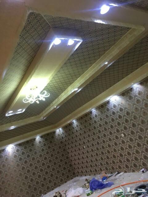 بيوت شمر تلبيس قماش مشب نار