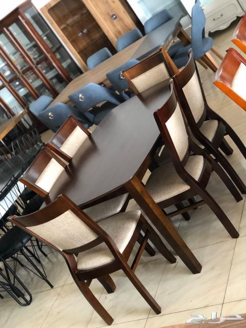 طاولات طعام خشب ماليزي جديد بالكرتون