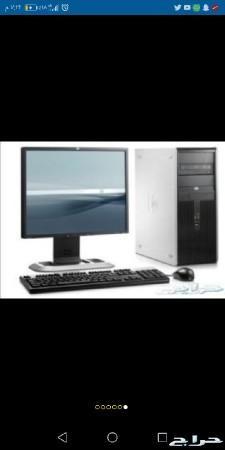 كمبيوتر مكتبي دل واتش بي مستعمل ب350 ريال