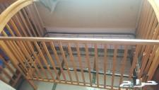 سرير جونيور خشبي ومشاية اطفال