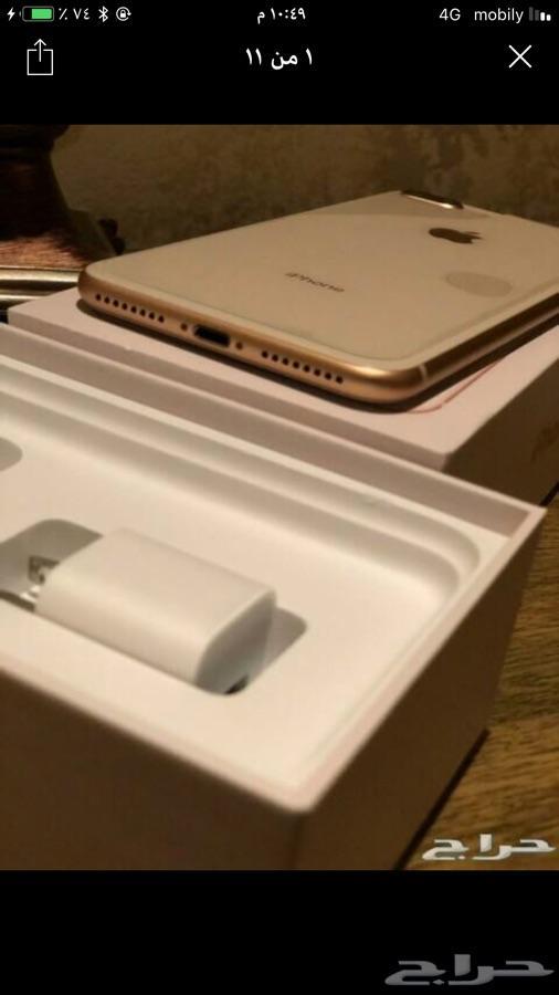 ايفون 8 بلس جديد بس بدون كرتون