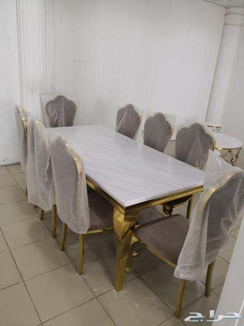 طاولات طعام رخام فخامه لعشاق التميز
