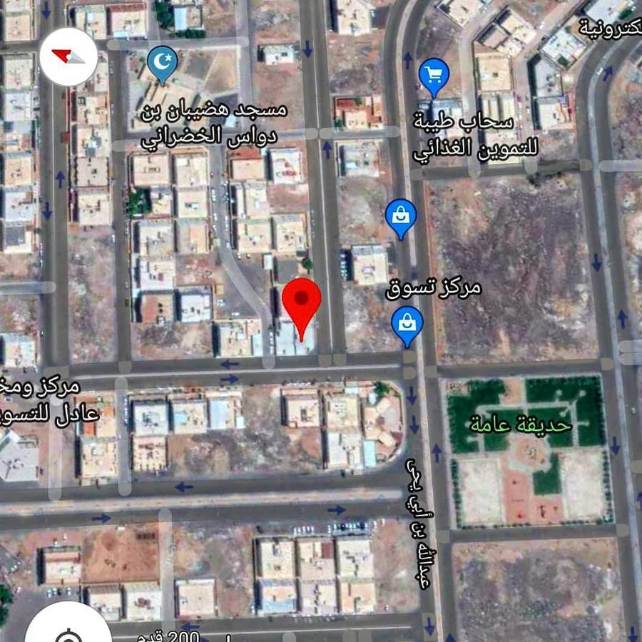 بيت شعبي مخطط الملك فهد 3 شوارع مساحة 637م