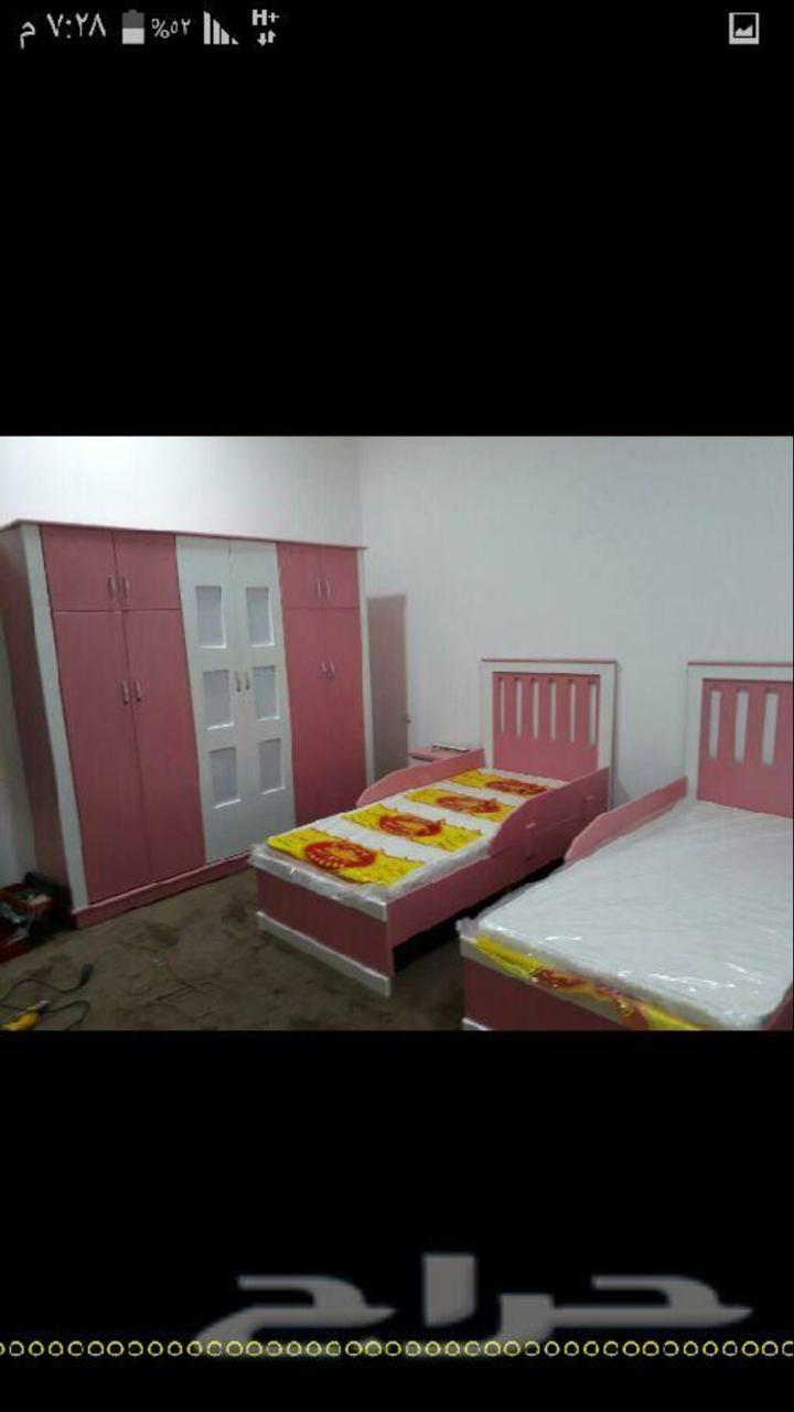 غرف نوم نفرين ومفردوسريران تبدامن 1600الشرقيه