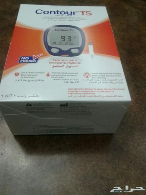 جهاز قياس السكر بالدم للبيع.جديد بالكرتونه.
