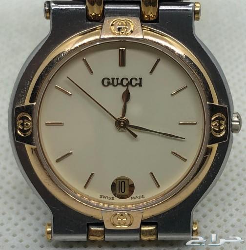 ساعة غوتشي رجالية لون أبيض