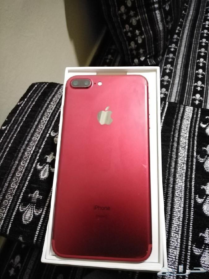 آيفون 7 بلس احمر 128gb