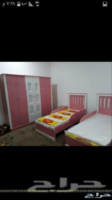 غرف نوم نفرين ومفردوسريران تبدا من1600الشرقيه