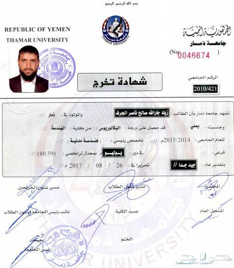 مهندس مدني <br /> يماني  الجنسية مقيم في الرياض