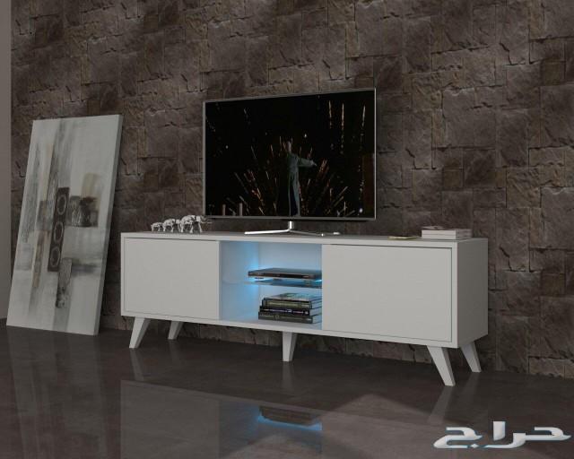 طاولات تلفاز تركيه  بإضاءة وبدون إضاءة..