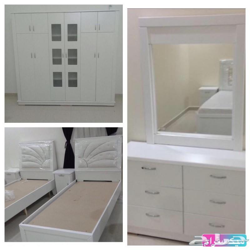 غرف نوم نفرين ومفرد وسريران تبدامن 1600القصيم