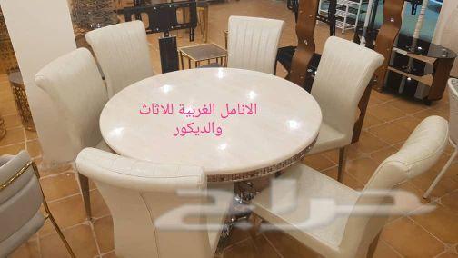 طاولات رخام دائرية 6 كراسي