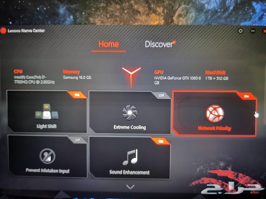 حراج الأجهزة   Gaming laptop لاب توب العاب LENOVO LEGIONY720