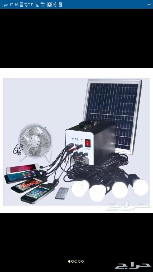 طاقة شمسية 4 لمبات نظام باور بنك متنقله