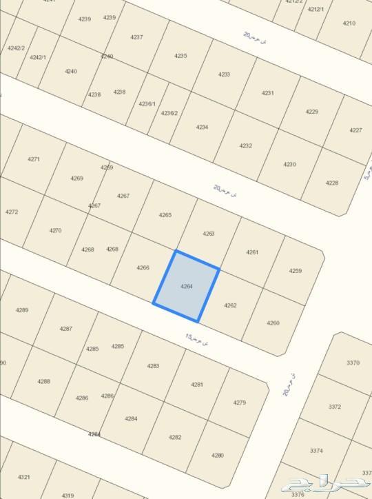 ارض في الرياض مخطط 3020  للبيع