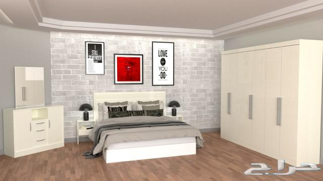 غرف نوم تركية وصينية ضمان 3 سنين ومرتبة هدية