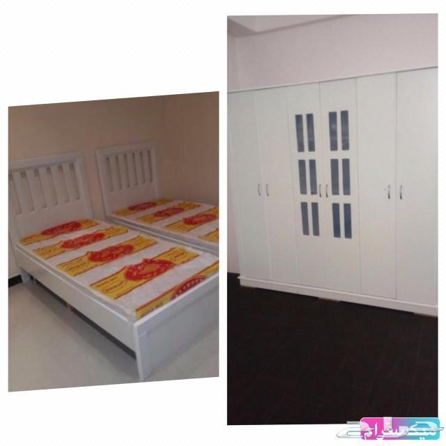 غرف نوم نفرين ومفرد وسريران\nتبدا من1600الباحة
