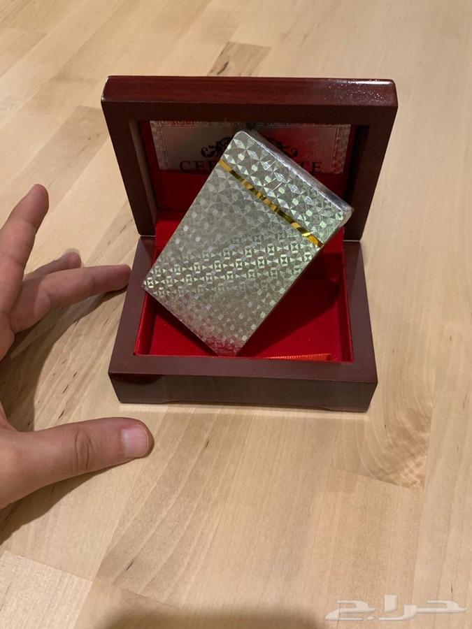 ورق بلوت مدهب فاخر ب ( صندوق ) ذهبي وفضي