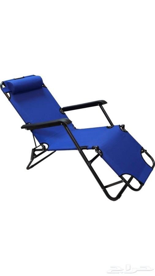 كرسي وسرير للرحلات قابل للطي