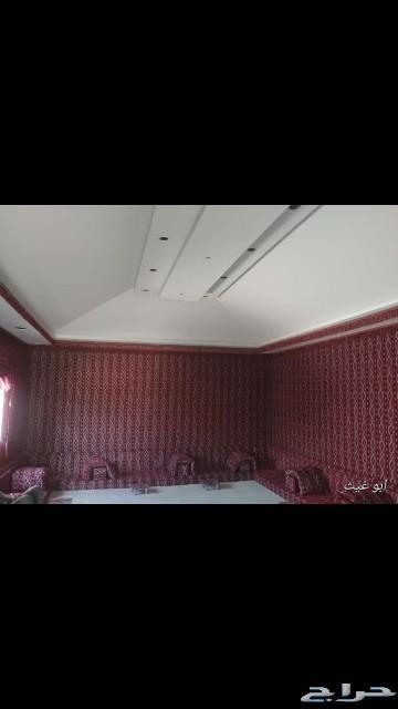 تلبيس قماش داخلي - بيوت شعر - مشبات نار