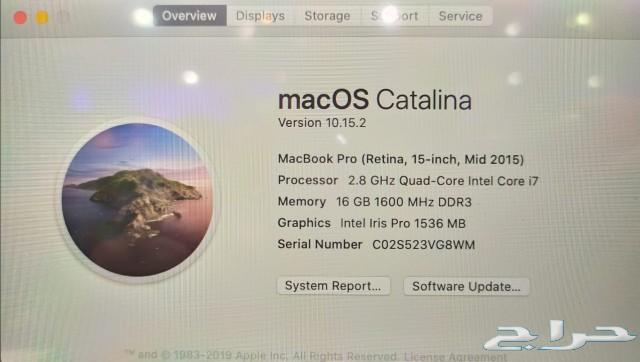 Macbook Pro 15 Retina 2015