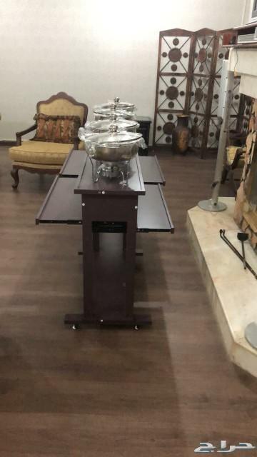طاولة بوفيه دور واحد مع 4سخانات او بدون سخان
